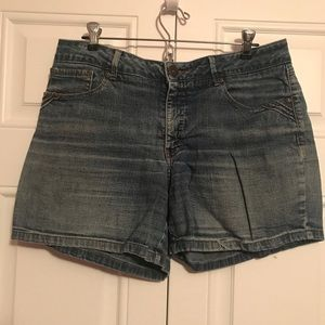 Faded vintage jean shorts